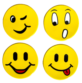 Poly Smiley Faces